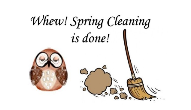 Spring Cleaning Owl