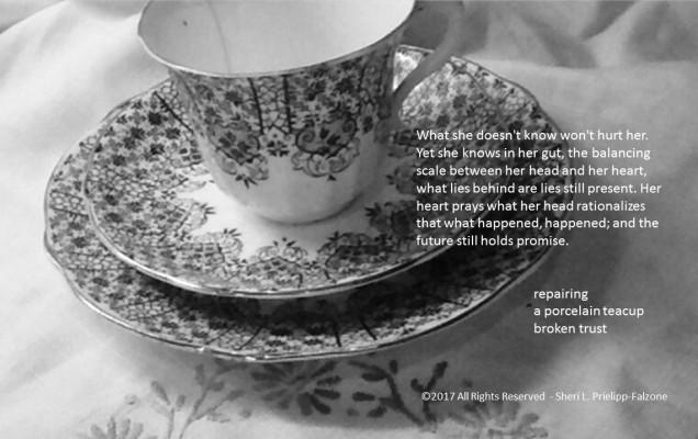 Cracked teacup