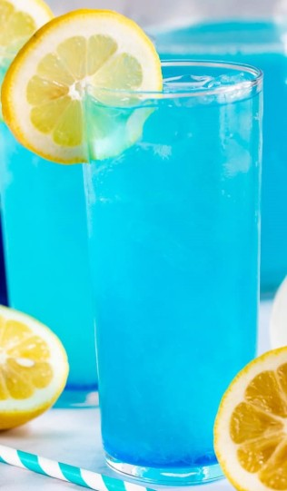 Electric blue lemonade.